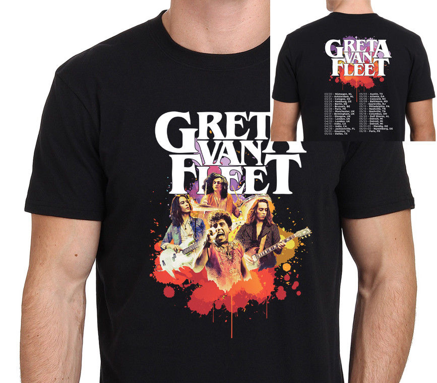 best sneakers on wholesale first look US $12.17 13% OFF|GRETA VAN FLEET TOUR DATES 2018 T Shirt Men's Black : S  XXL-in T-Shirts from Men's Clothing on Aliexpress.com | Alibaba Group