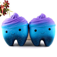 Squishy Jumbo Cartoon Teeth Gags Practical Jokes Toys Squish Antistress Slow Rising Squeeze Squishies Toy 20S71219 drop shipping(China)