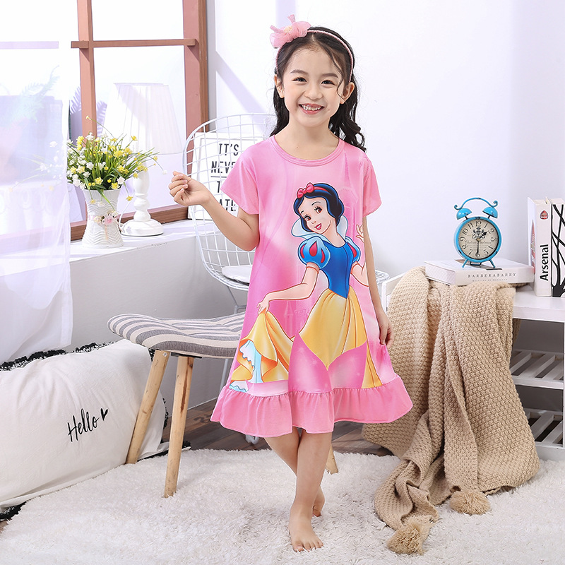 Girls Kids Character Minnie Mouse Pyjamas Nightwear PJs Cotton Nightdress
