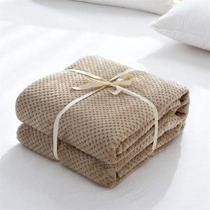 Image 4 - Parkshin franela piña manta avión sofá Oficina adulto uso manta coche cubierta de viaje manta para sofá cama sábana