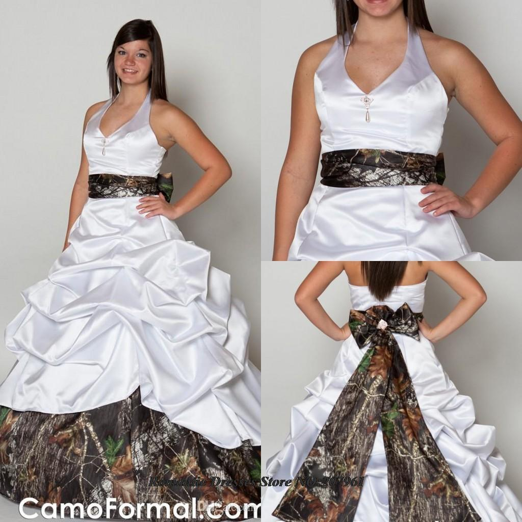 Buy 2016 elegant strapless ball gown camo for Free wedding dresses low income