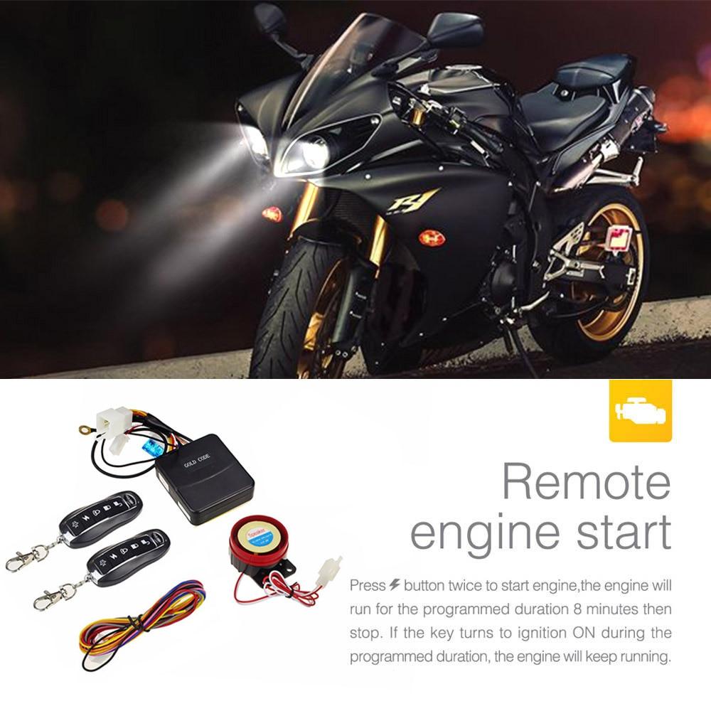 OLOEY Motorcycle Scooter Burglar Alarm System Lock Motorbike Anti-theft Security Safety Alarm Protection For HONDA KAWASAKI