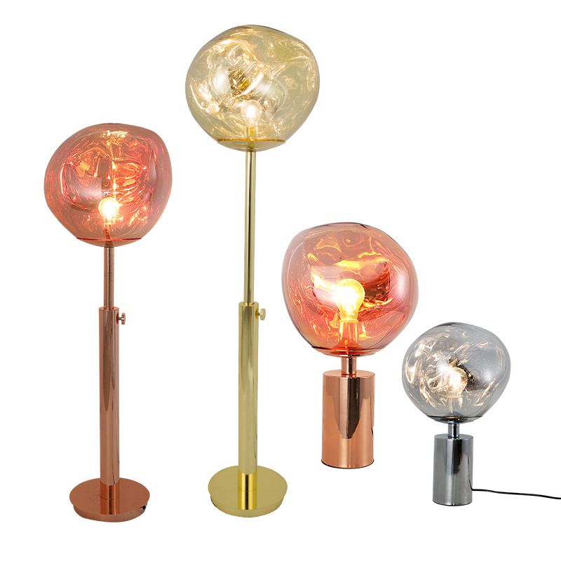 Modern minimalist melting PVC lampshade table lamp floor lamp lava irregular living room bedroom bedside lamp