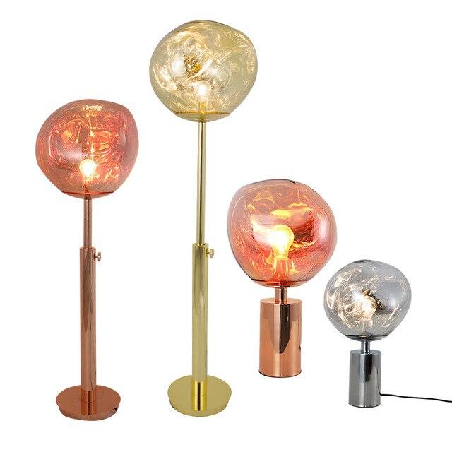 現代ミニマリスト溶融 pvc ランプシェードテーブルランプ/フロアランプ lava 不規則なリビングルームの寝室のベッドサイドランプ照明 E27