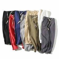 2019 Summer Joggers Men Pants Cotton Linen Casual Slim Streetwear Teenager Sweatpants Ankle-length Trousers Men