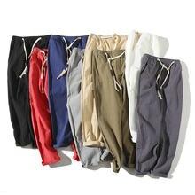 2020 verão joggers calças masculinas algodão casual fino streetwear adolescente sweatpants tornozelo-comprimento calças masculinas
