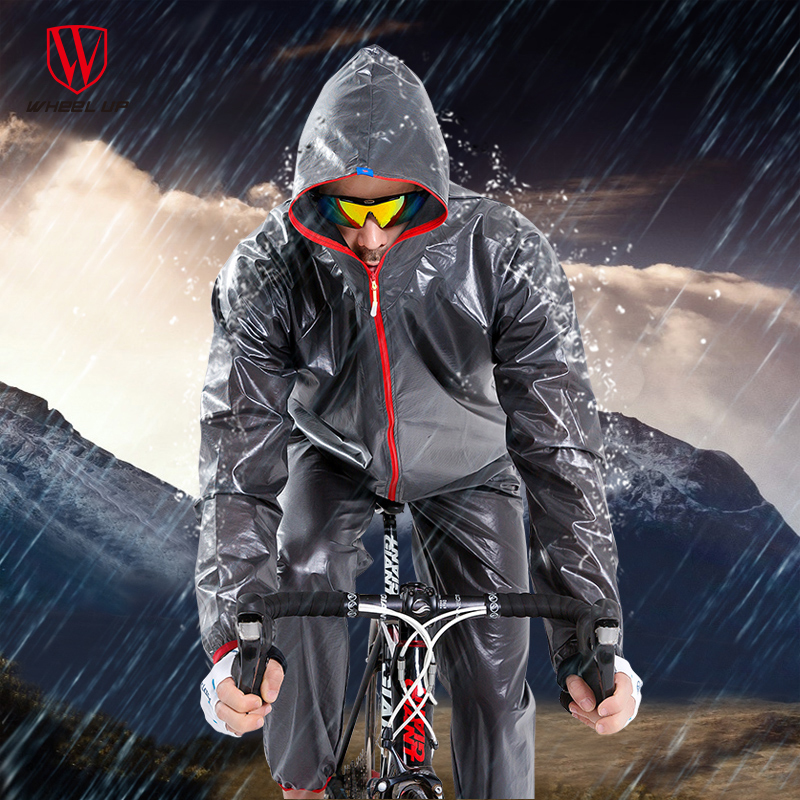 A Bike WHEEL UP jersey Waterproof Cycling Jacket Rain Coat Men Road MTB Mountain Raincoat Pants Rainwear Sets Cycling Equipment