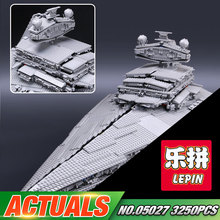 2016 New LEPIN 05027 3250Pcs Star Series War The Star Set Destroyer Model Building Kit Blocks Bricks Compatible Toys 10030