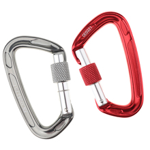 1pc 10*6cm 24KN Auto Locking Carabiner Hammock Rappelling Climbing Screw Gate Buckle Sport Climbing Carabiner bag accessories цена