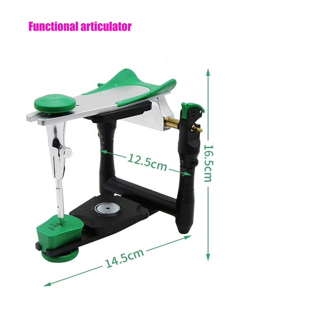1pc Dental lab functional zinc alloy articulator new style model bite articulator accurate scale on plaster model work