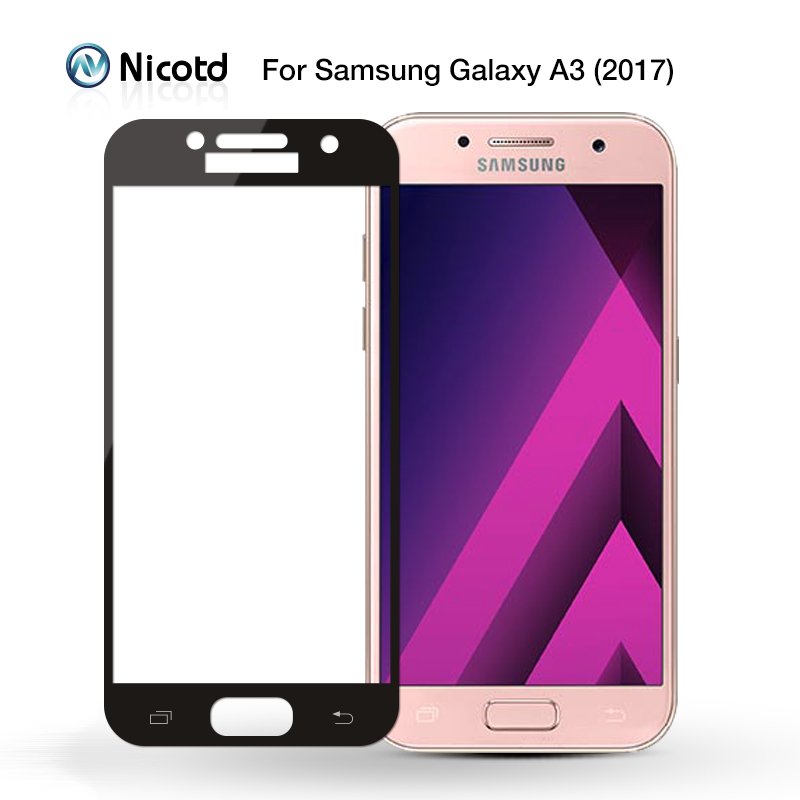 Image 2 - Full Cover Tempered Glass for Samsung Galaxy S6 S7 J2 J5 J7 Prime Note 4 Note 5 Galaxy A3 A5 A7 2016 2017 Screen Protector Film-in Phone Screen Protectors from Cellphones & Telecommunications