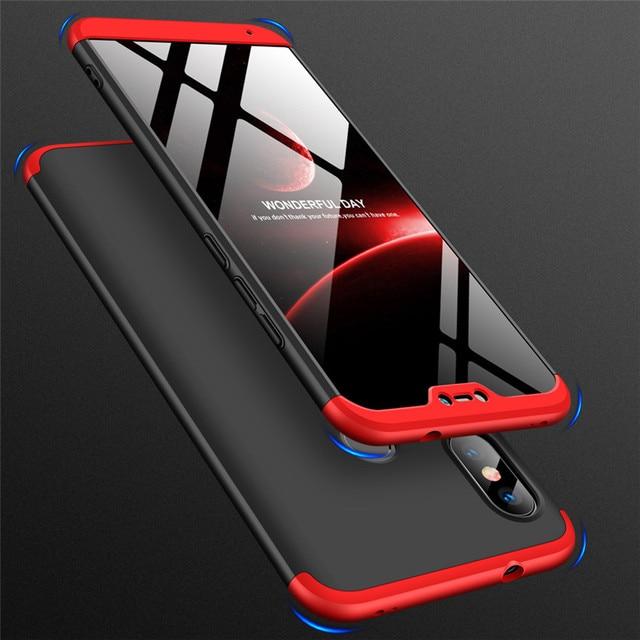 360 Degree Case for Xiaomi Mi 8 Se 6 Mix Max 2 2s A2 Lite A1 6x 5x Redmi S2 Y2 Y1 6 6a Note 5a Prime 5 Pro Plus Hard Back Cover
