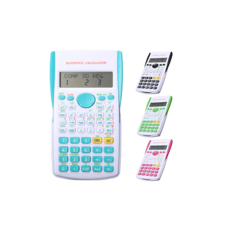 Büroelektronik 12 Digitale Scientific Calculator 2 Linie Gymnasiast Funktion Rechner Display Multifunktionale Zähler Rechenmaschine QualitäT Und QuantitäT Gesichert