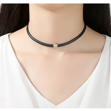 Collier Round Top Fashion Hot Sale Link Chain Collares Necklace Fashion Cubic Zirconia Choker Necklaces Jewelry For Women