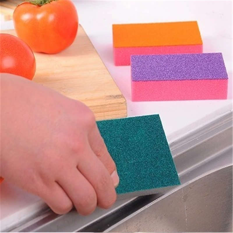 DoreenBeads Double Color Sponge Rectangle Window Kitchen Bowl Pod Dish Household Cleaning Washing Tool About 10*7*2.5cm 1PC