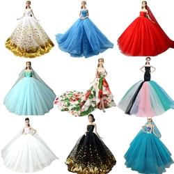 NK Mischen Puppe Kleid Hohe Qualität Handgemachte Lange Schwanz Abendkleid Kleidung Spitze Hochzeit Kleid Für Barbie Puppe Zubehör Spielzeug JJ