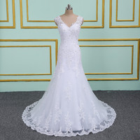 Robe de Mariage Sexy Bohemian Lace Vintage Appliques Boho Beach Wedding Dress 2019 Romantic Wedding Gowns Vestido de Noiva