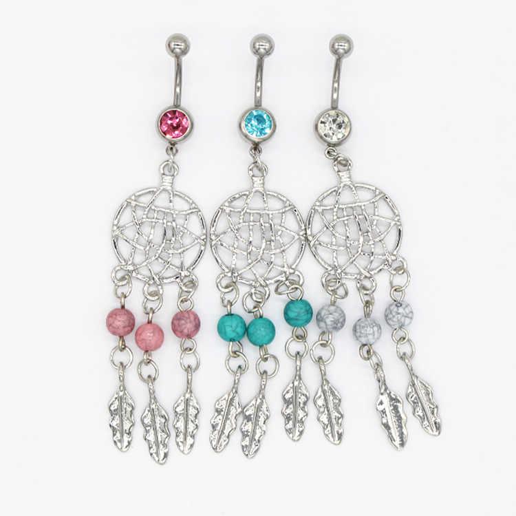 Hot Belly button nhẫn Body Jewelry piercing ombligo Pha Lê Belly Navel Barbell Bar Nhẫn Cơ Thể xỏ lỗ rốn piercing nombril