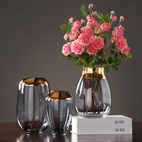Luxury glass vases Grey/green Phnom Penh terrarium glass containers flower vase for weddings home decoration accessories