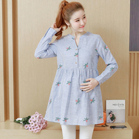 2019 Maternity Blouse Shirts Dresses Clothes Pregnancy Wear Tops Tees Clothing Stripe Casual Loose Clothes For Pregnant Women