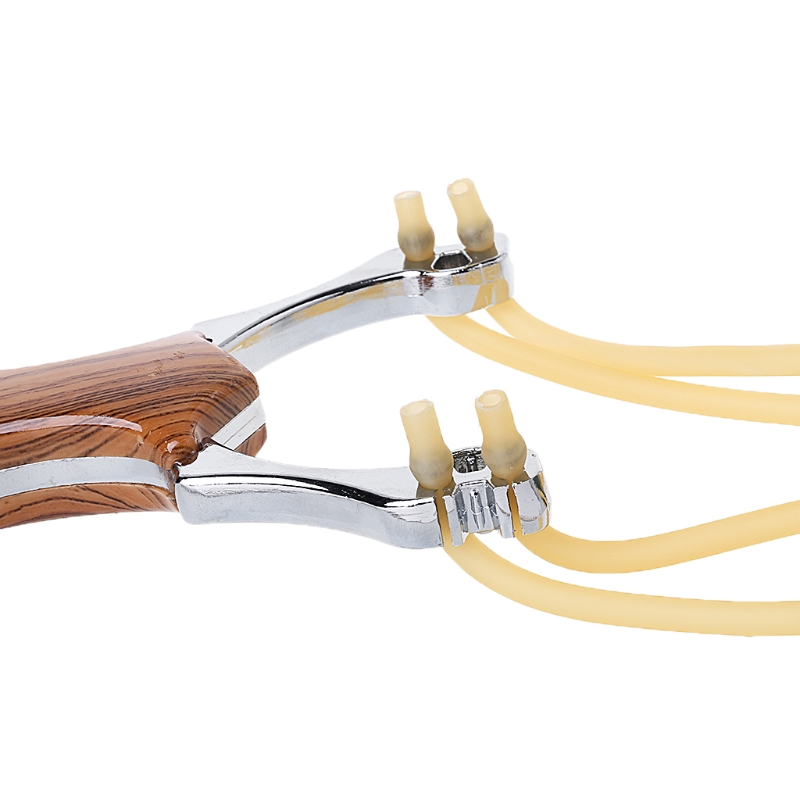 Image 5 - Powerful Slingshots Alloy Wood Grain Catapult Bow Outdoor Hunting Tool Accessory-in Bow & Arrow from Sports & Entertainment