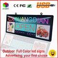 Полный цвет RGB LED знак 18 ''X 40''/поддержка прокрутки текста LED реклама экран/программируемый изображения видео напольный дисплей