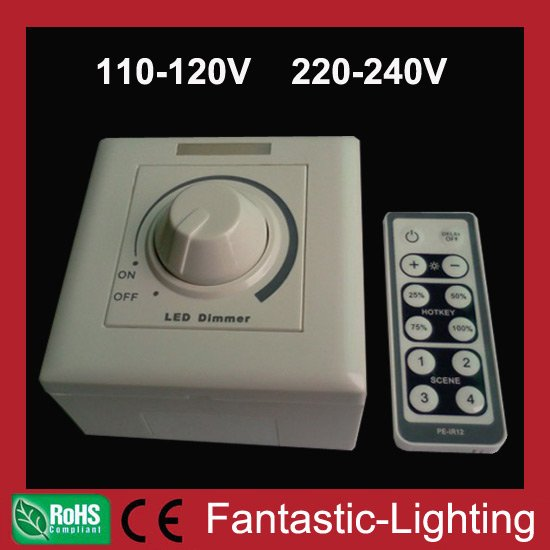 led dimmer controller 110v 220v 230v 240v led high voltage 86 panel