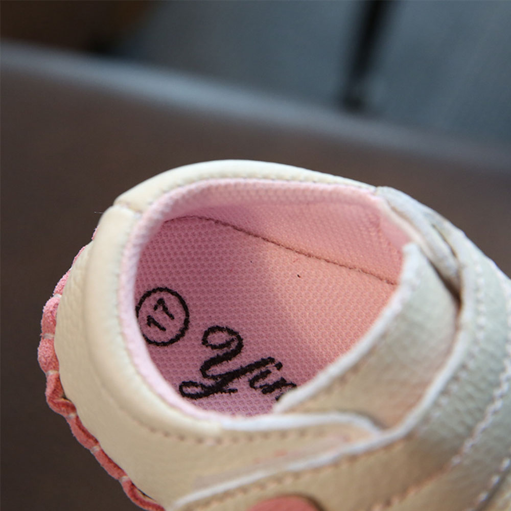 Baby Leather Shoes Newborn Soft Bottom Summer Girls Baby Toddler Shoes Soft Bottom Cute Princess Baby Leaf Pattern Shoes YD542