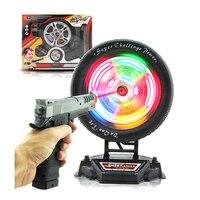 Color Electronic Target Shooting Game Soft Bullet Target For Nerf Laser Shooting Training Wheel Targeting Toy