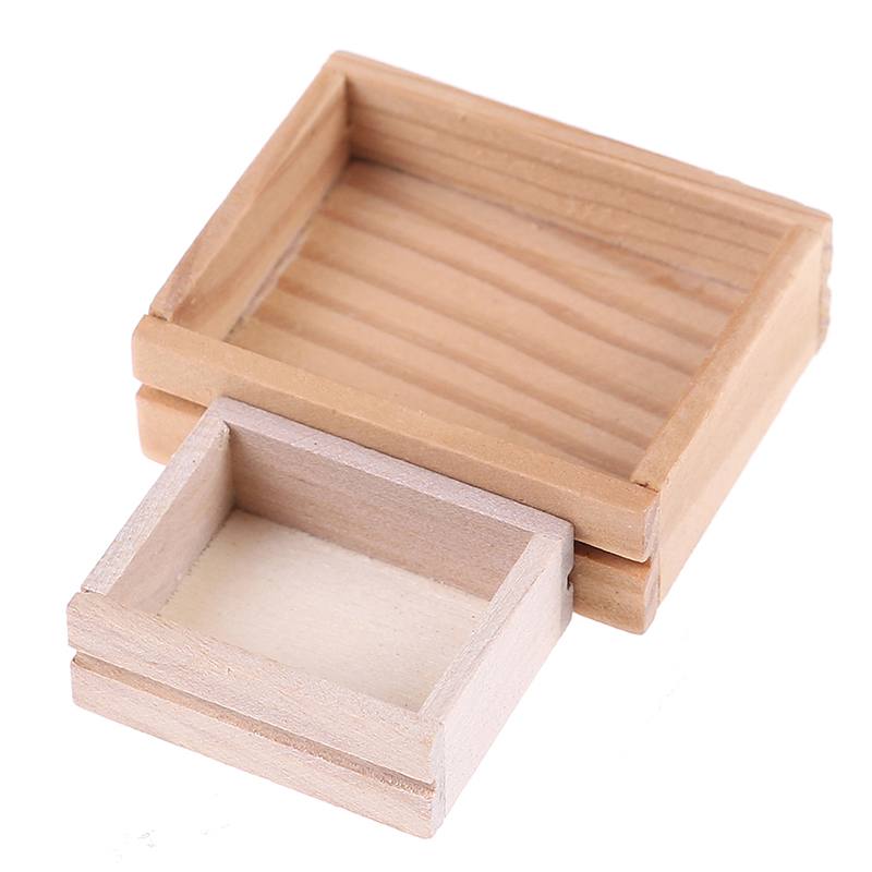 Miniature Dollhouse FAIRY GARDEN Accessories ~ Wood Crate with Vegetables ~ NEW