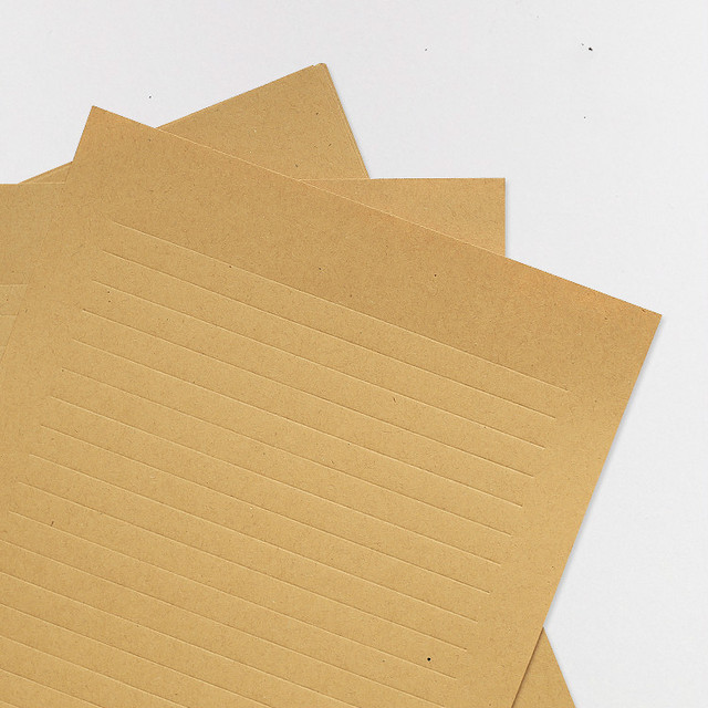 Pack Of 10 Pieces Blank Writig Paper Texture Dark Khaki Kcraft