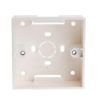 2019 nueva caja de conexiones de PVC 86X86 Cassette de montaje en pared para equipo eléctrico de Base de toma de interruptor
