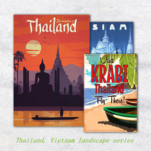 Thailand, Vietnam landscape series  Pictures Canvas Art Posters and Paintings Wall Decor Canvas for Living Room, No Frame