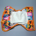 JinoBaby Super Diaper Cover Waterproof Organic Cotton Inserts Pack of 1PCS Cover + 2PCS Nappies