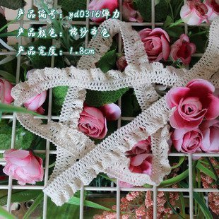 Wholesale 1.8 cm elastic lace trim,Christmas DIY crafts,Christmas gift packing lace,clothing lace accessories,decorative laces
