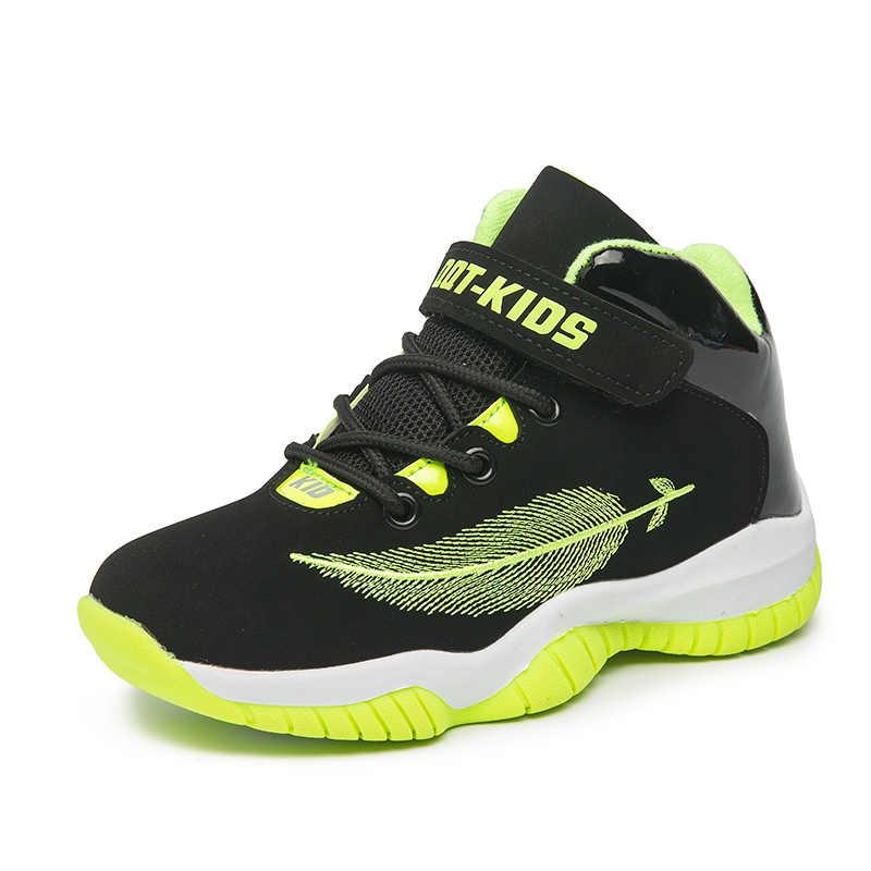 7c364dab261938 ... Man Boys Basketball Shoes High Top Kids Sneakers Genuine Leather Shoes  Jordan Basketball Sport Boy Girls ...