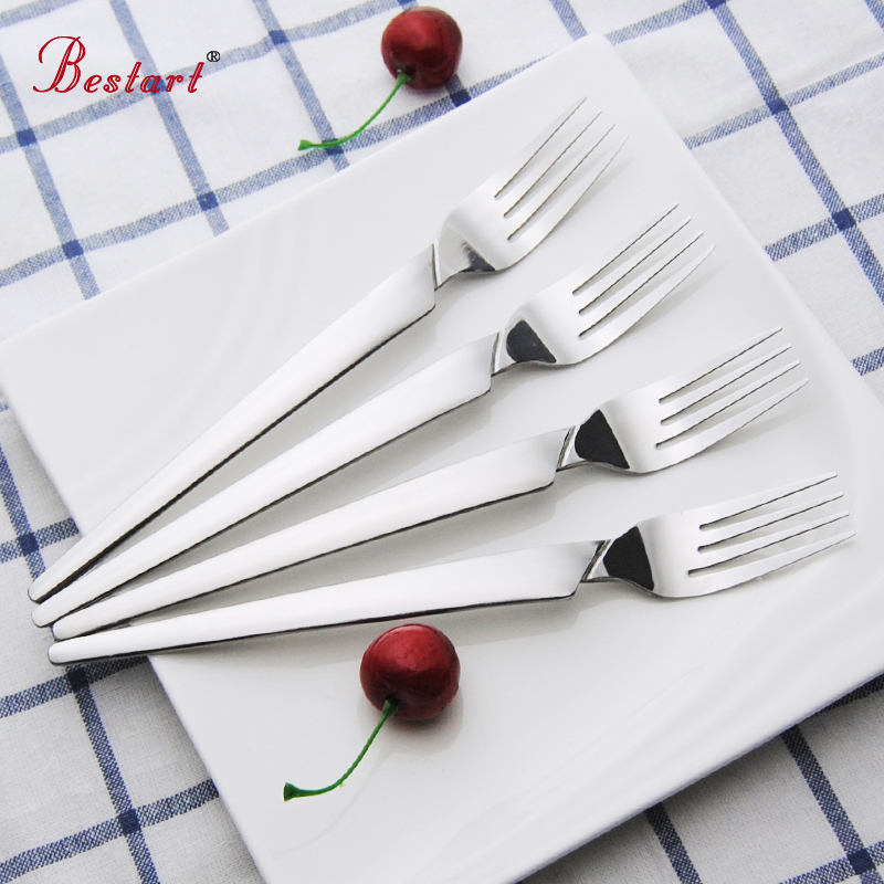 12 PCS Four Tined Stainless Dinner Dessert Fork Set Bistro Appetizer Table Fork Cocktail and Table Kitchen Party Item Tableware