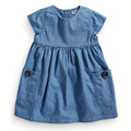Wardrobe essential denim dress with pockets & buttons detail,soft cotton girls dresses,kids clothes,next clothing style(2-5 yrs)