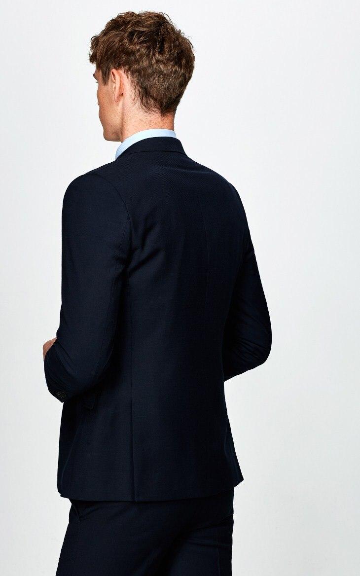 Pièces Mariage Made 2017 Les Hommes Custom Foncé Bleu Costume 2 Smokings Slim Mesure Pour Fit Costumes Sur Marié Marine De nnxgrWZwH