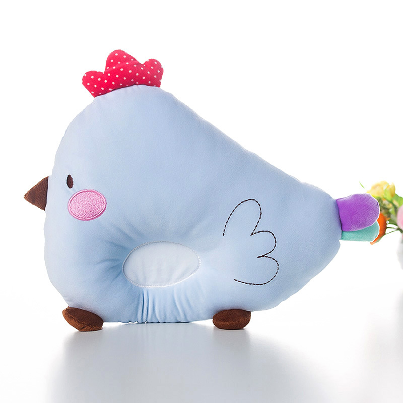 New Born Baby Sleeping Pillow Cartoon Chicken Anti-rollover infant Head Sleep Shaping Pi ...