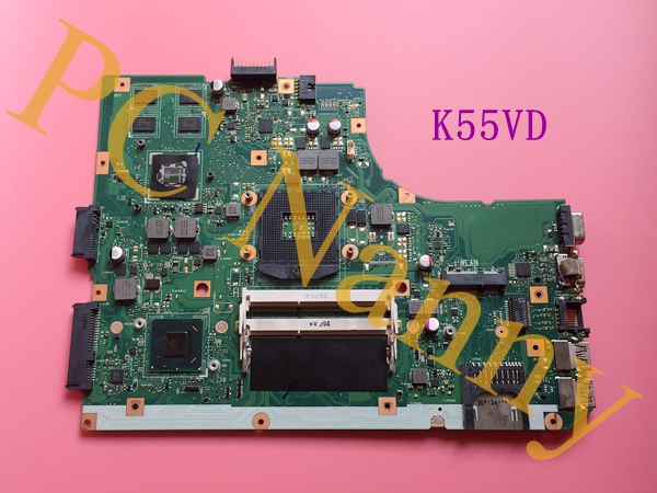 Original K55VD REV.3.0 laptop motherboard for Asus K55VD with 2GB NVIDIA GeForce GT 610M Graphics HM76 test before shipment