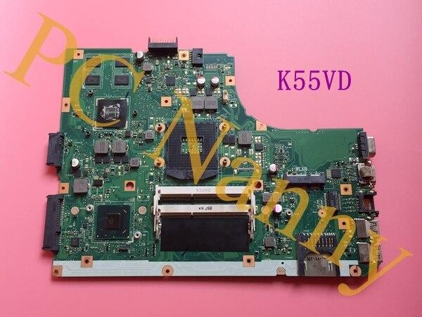 REV.3.0 K55VD laptop motherboard para Asus K55VD originais com 2 GB NVIDIA GeForce GT 610 M Gráficos HM76 teste antes expedição