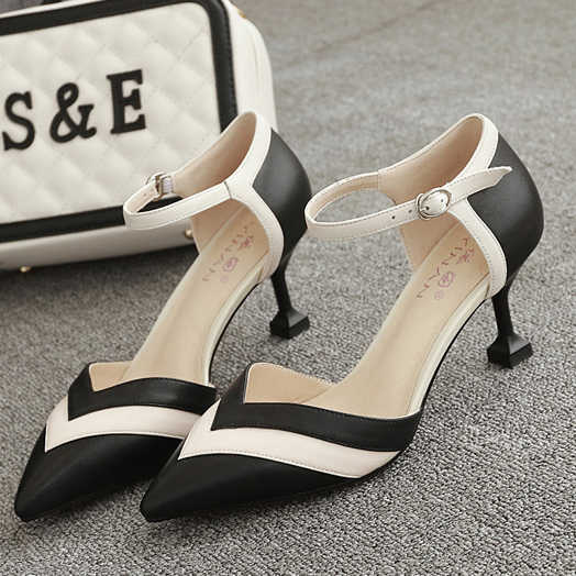 Sunny Spring Summer Shoes Woman Heels Low Heels Shoe Heel Women Korean Shoes Pumps Pointe Red Soft Single Shoes Shallow Mouth Slip On Other