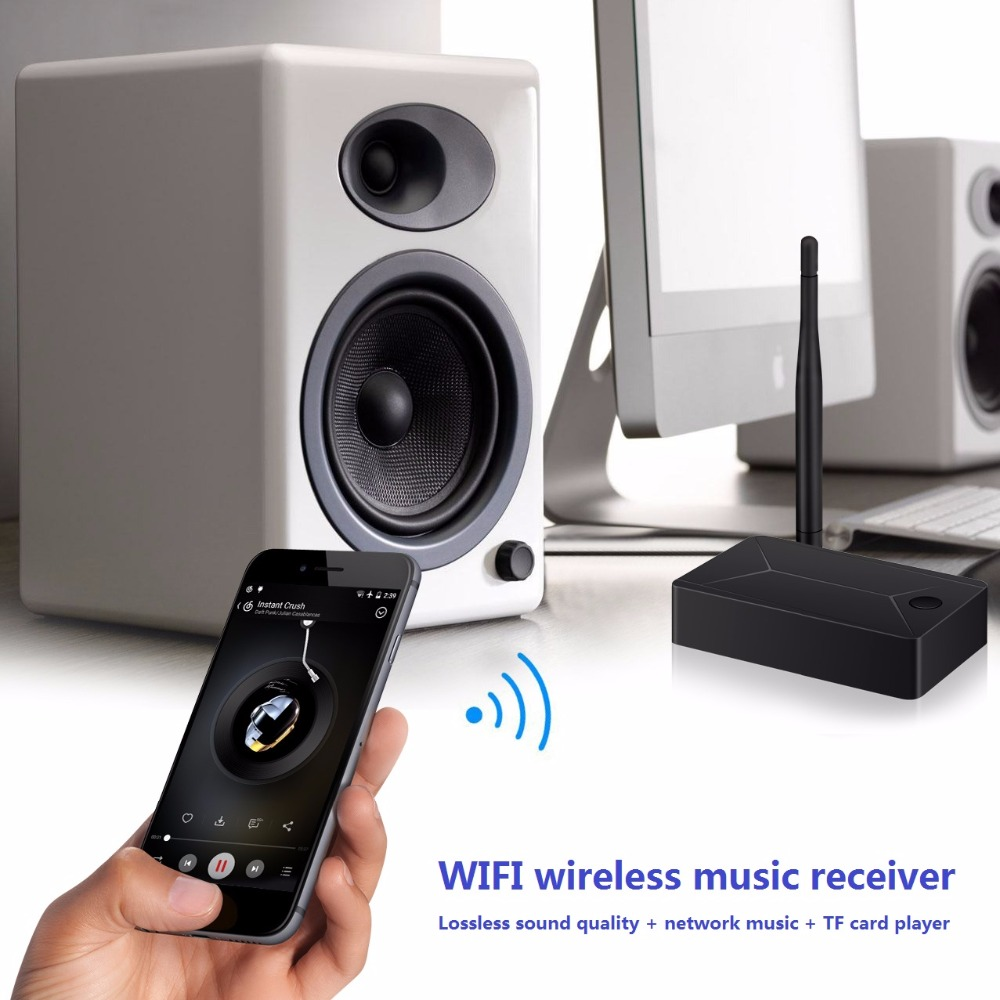 US $22 69 |BOLS New WIFI Audio Receiver Supports DLNA, Airplay Streaming  Lossless HIFI Music from iOS, Android, Windows, Mac-in Wireless Adapter  from