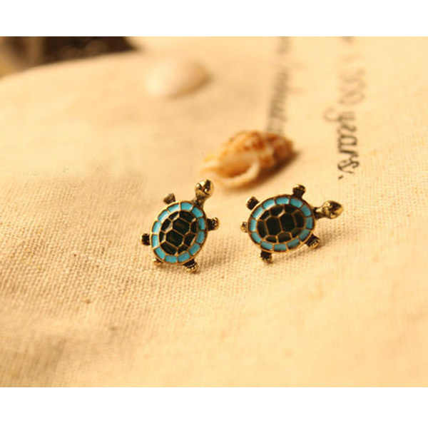 2019 New Alloy 1 Pair Retro Turtle Cute Tortoise Animal Ear Studs Earrings GIFT for women and girls Drop Shipping