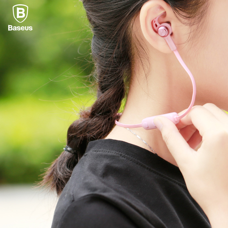 Baseus Magnetic Bluetooth Earphone Wireless Sport Running Headset with Mic Stereo In Ear Earbuds Headset For MP3 MP4 Earpiece baseus magnetic bluetooth earphone for iphone 7 samsung s8 wireless sport running stereo in ear earbuds headset mp3 mp4 earpiece