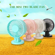 ASKMEER Mini Fan Portable Double Motor USB for Home Office Desktop Computer Cooling Cooler