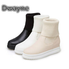 New High Quality Customizable Size Winter Boots Women Ladies Winters Stretch Socks Flat Girls Womens Fashions Shoe