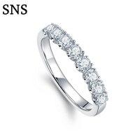 0,45 cttw натуральный алмаз обручальное кольцо для женщин 14 K твердое белое золото обручальное кольцо алмазное ювелирное изделие