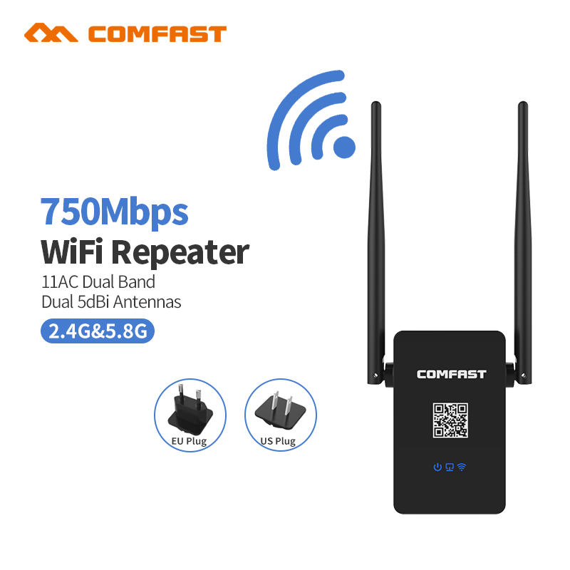 802 11AC WIFI Router Wifi repeater 11AC Dual Band 750Mbs Comfast Wireless WI FI Router Extender